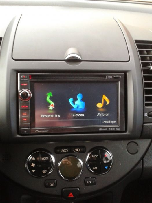 how to: replace orginal note stereo with 2 din - nissan note owners