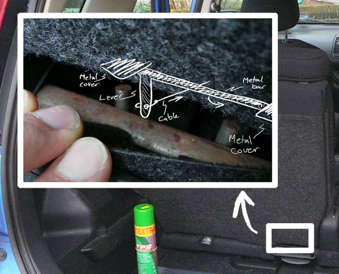 How To: Rear Seat not folding down solution - Nissan Note ...